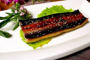 Roasted Anago fillets